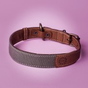 KipraPets_DogCollar_Leather&canvas_collar_Brown&green2