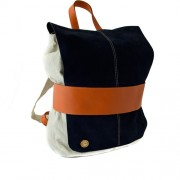 Кипра_СиняРаница_МалкаДамскаРаница_Kipra_BlueLeatherBackpack_WomenBackpack