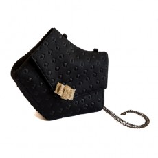 KipraBag_SmallBlackBag_NeopreneBag_EveningBag_BlackPurse