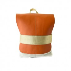 Kipra leather Backpack for Women Canvas